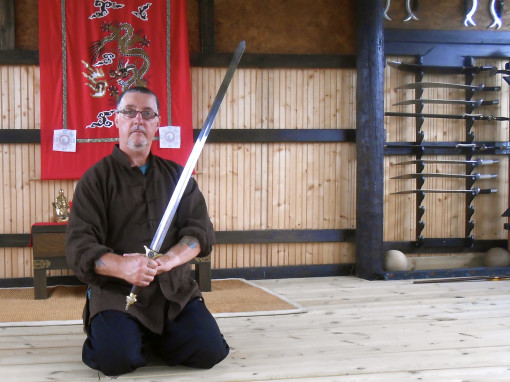 Paul Mitchell with Sword